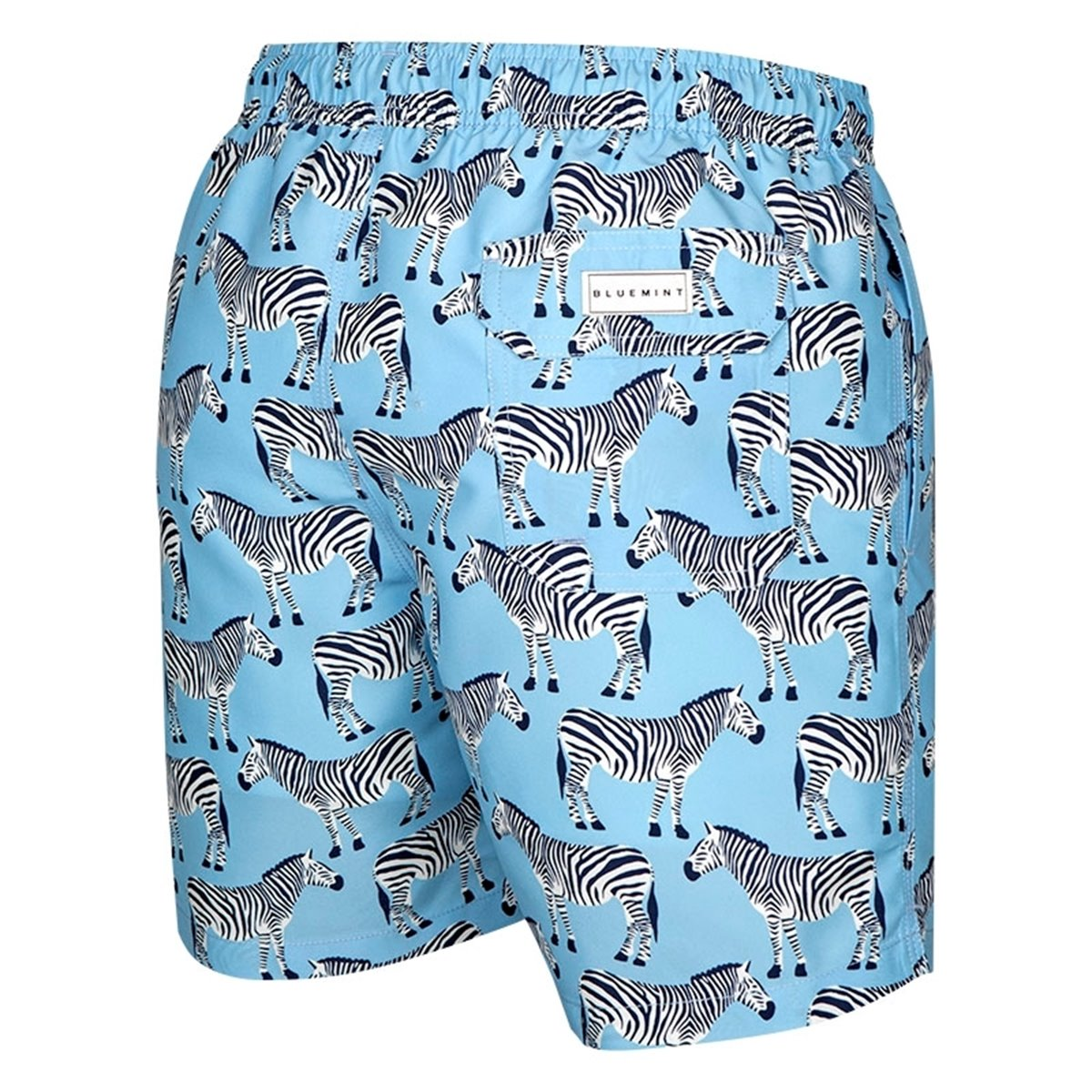 Forest Squirrels with Leaves Mens Quick Dry Beach Board Elastic Waist Shorts